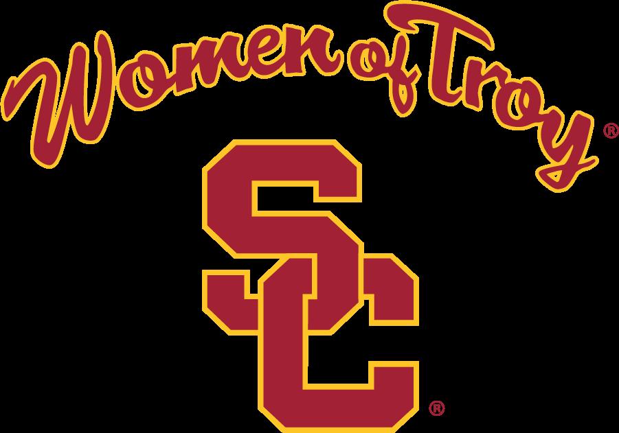 Southern California Trojans Logo Alternate Logo (2001-2016) - Arch script Women of Troy above SC interlock used for women\'s athletics. SportsLogos.Net