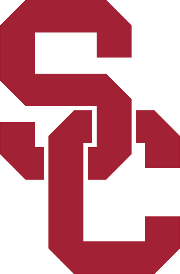 Southern California Trojans Logo Alternate Logo (2016-Pres) - In April 2016, USC unveiled a design evolution incorporating consistent colors, logos, lettering, and numerals for a unified look for all Trojan sports in collaboration with Nike. The SC interlock remained the primary logo and mark for USC Athletics, but the current script-face TROJANS above the SC interlock was eliminated. The symmetry of the SC was slightly modified. Colors remained the same Cardinal and Gold. SportsLogos.Net