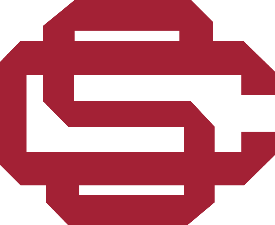 Southern California Trojans Cap Cap (1951-2016) - SC monogram used for baseball-only. Seen used as early as 1951, possibly have been worn sooner. Program began play in 1888. SportsLogos.Net