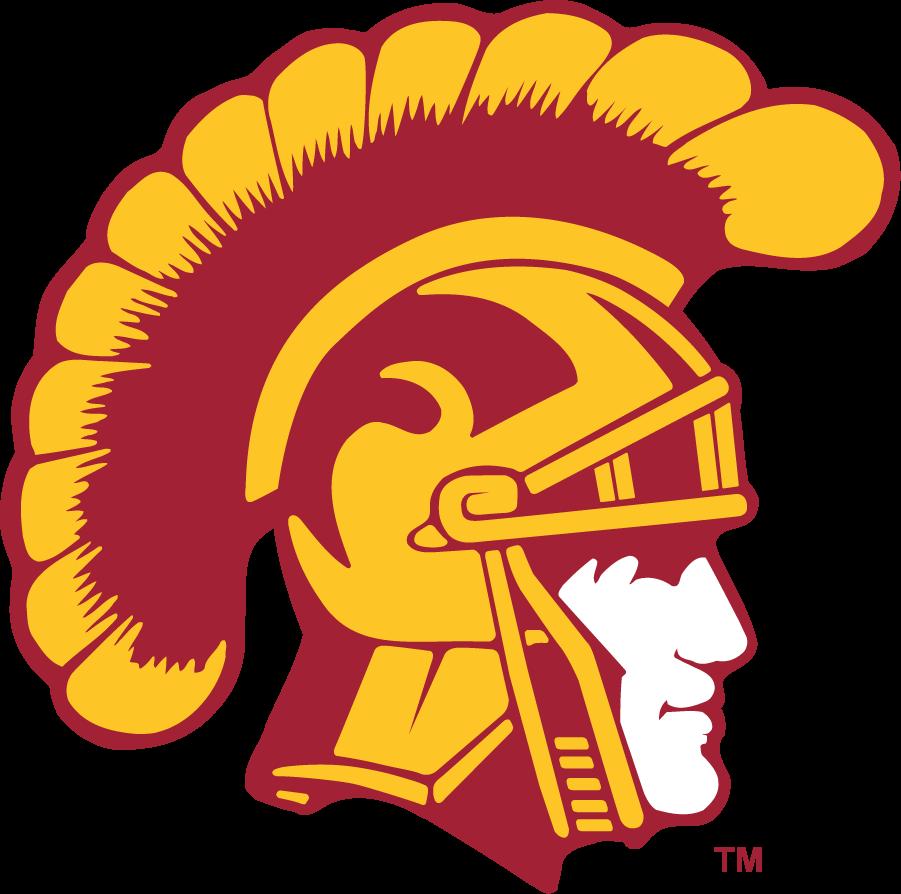 Southern California Trojans Logo Secondary Logo (1972-Pres) - Football-only Trojan Head with white face. SportsLogos.Net