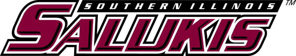 Southern Illinois Salukis Logo Wordmark Logo (2001-2018) - Salukis in red with black outline SportsLogos.Net