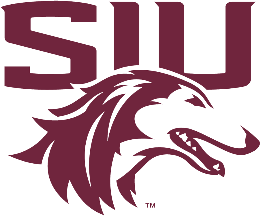 Southern Illinois Salukis Logo Primary Logo (2019-Pres) - Dog head in maroon and white with SIU above SportsLogos.Net