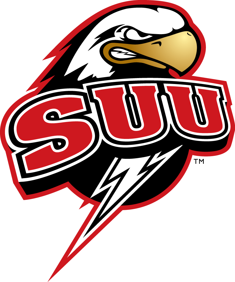 Southern Utah Thunderbirds Logo Primary Logo (2002-Pres) - Angy Eagle with SUU and Lighting bolt SportsLogos.Net