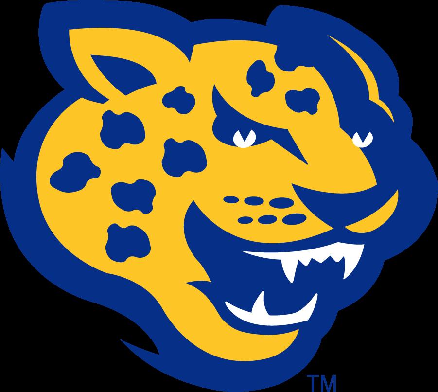 Southern Jaguars Logo Alternate Logo (2001-2016) - Jaguar head in blue and yellow. SportsLogos.Net
