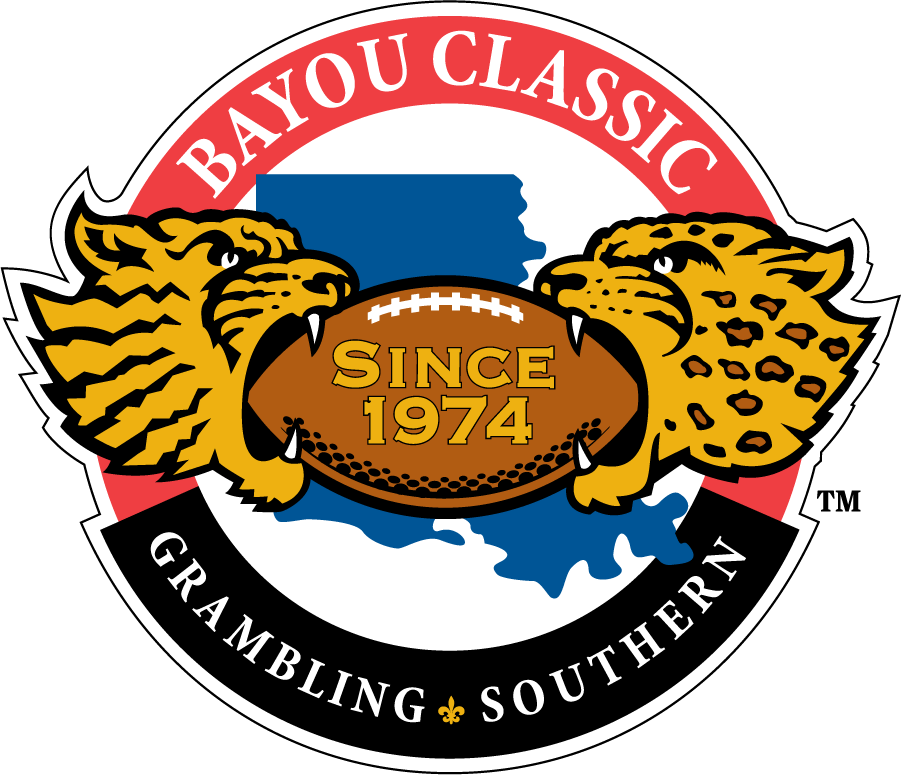 Southern Jaguars Logo Event Logo (2000-Pres) - Bayou Classic logo for the annual college football game between the Grambling State University Tigers and the Southern University Jaguars, first held under that name in 1974 at Tulane Stadium in New Orleans, although the series itself actually began in 1932. Features a tiger on the left for Grambling and a jaguar on the right for Southern. Logo has been used since around 2000. Other versions of this replaces the SINCE 1974 with roman numerals of that meeting. SportsLogos.Net