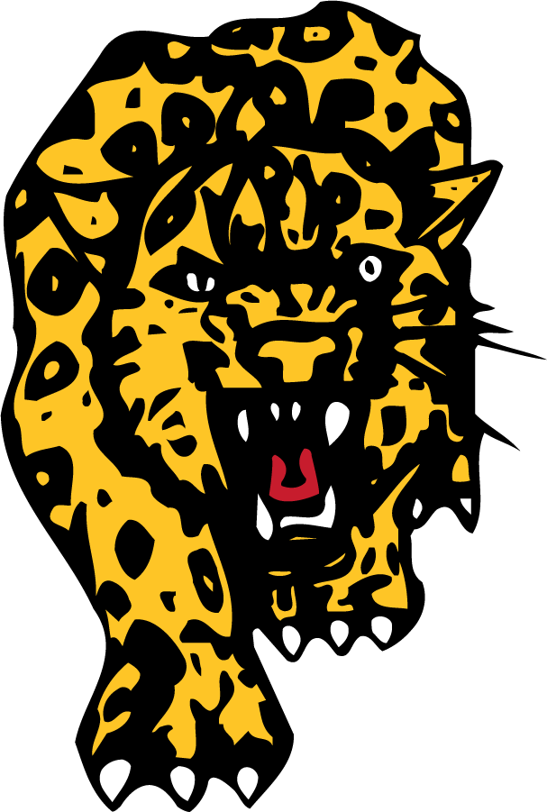 Southern Jaguars Logo Primary Logo (1985-1995) - Front facing jaguar body. Used approximately from 1985 to 1995. SportsLogos.Net