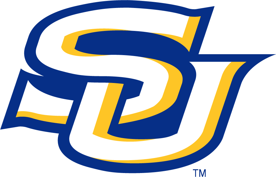 Southern Jaguars Logo Secondary Logo (2001-2016) - SU monogram in blue and yellow. SportsLogos.Net