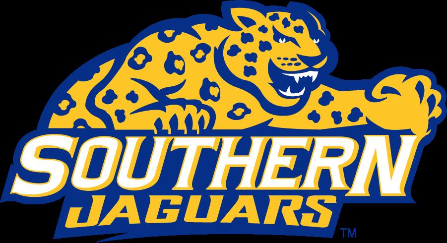 Southern Jaguars Logo Secondary Logo (2001-2016) - Jaguar over Southern Jaguars. SportsLogos.Net