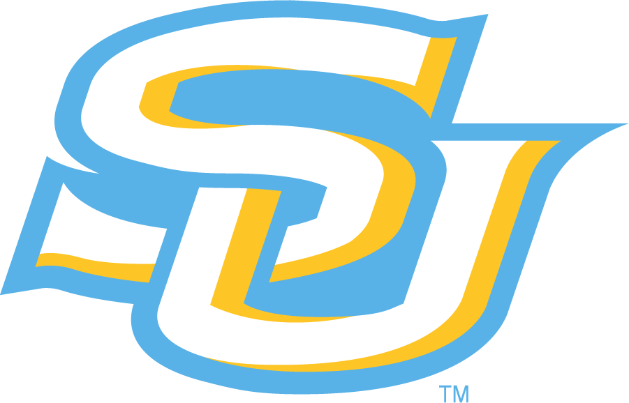Southern Jaguars Logo Secondary Logo (2014-2016) - SU monogram in light blue and yellow. Would later become the primary. SportsLogos.Net