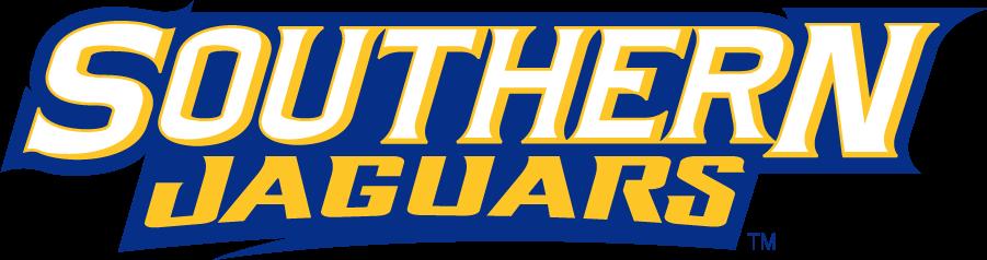 Southern Jaguars Logo Wordmark Logo (2001-2016) - Southern Jaguars in blue and yellow. SportsLogos.Net