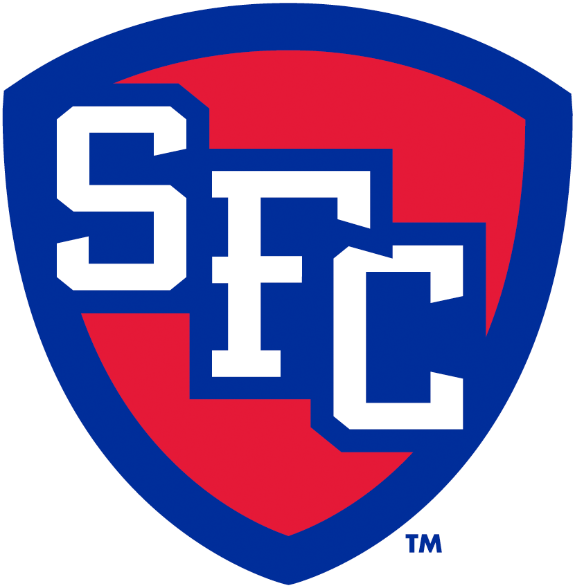 St. Francis Terriers Logo Alternate Logo (2014-Pres) - Red and blue shield with SFC in white  SportsLogos.Net