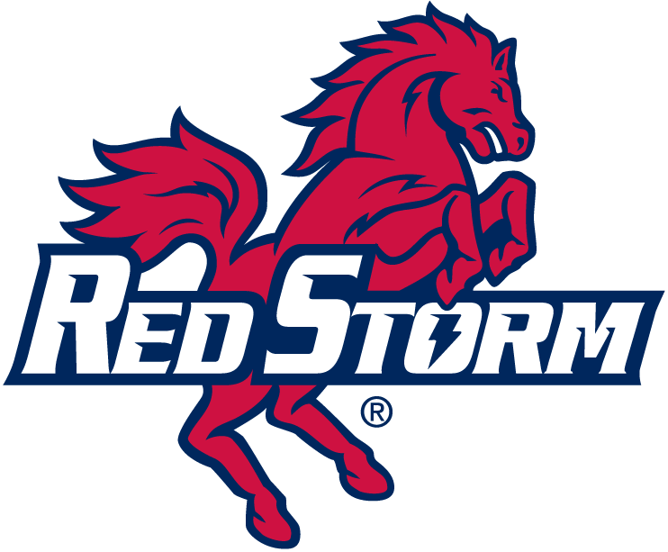 St. Johns Red Storm Logo Alternate Logo (1992-2001) - Red horse with script SportsLogos.Net