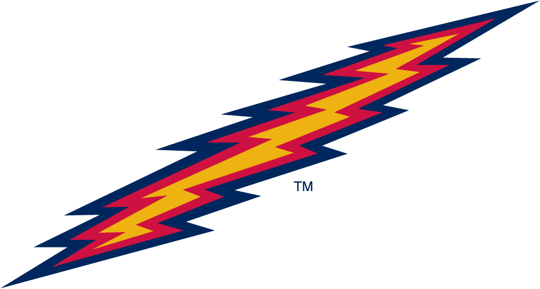 St. Johns Red Storm Logo Alternate Logo (1992-2001) - Lightning bolt. SportsLogos.Net