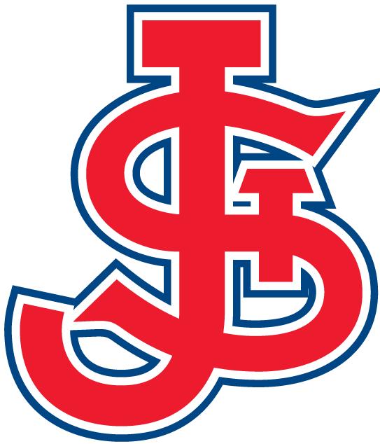 St. Johns Red Storm Logo Alternate Logo (1980-2003) - Interlocking STJ in red SportsLogos.Net