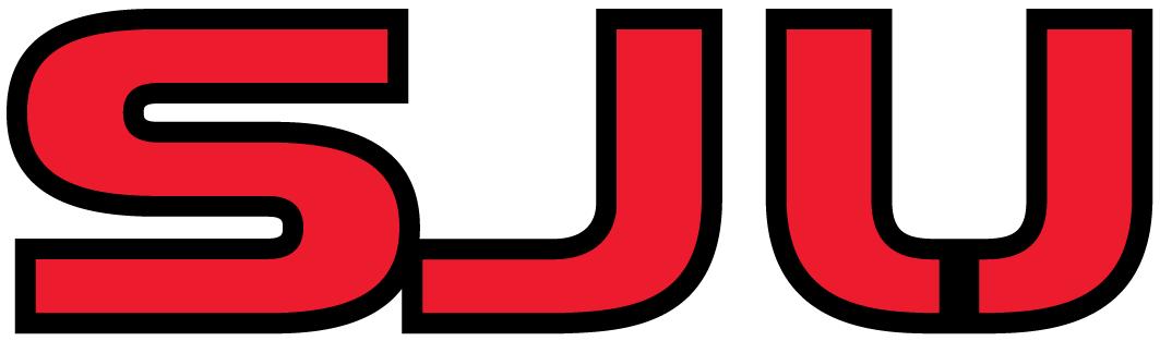 St. Johns Red Storm Logo Wordmark Logo (2004-2006) - Red SJU SportsLogos.Net
