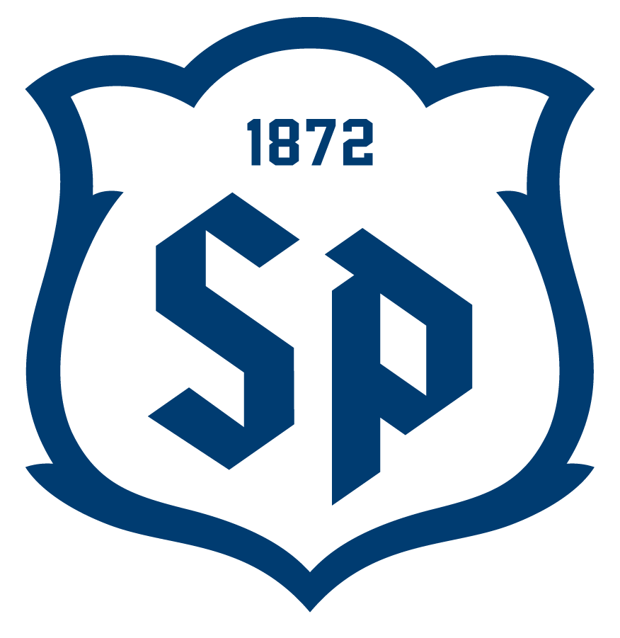 Saint Peters Peacocks Logo Alternate Logo (2020-Pres) - Saint Peter's redesigned their entire athletic logo program in the Summer of 2020, including this new SP monogram logo, an acronym for the name of the college. SportsLogos.Net