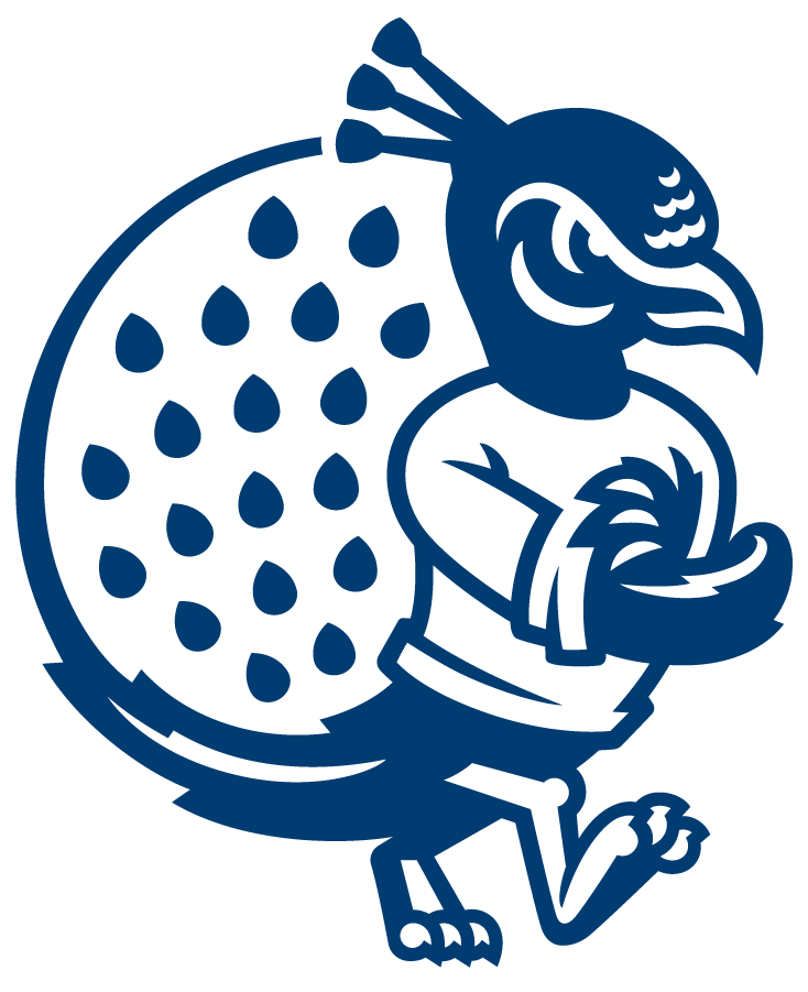 Saint Peters Peacocks Logo Alternate Logo (2020-Pres) - Saint Peter's redesigned their entire athletic logo program in the Summer of 2020, including this new updated version of their peacock logo. The peacock mascot logo was reimagined with inspiration from its most recent iteration, as well as a callback to one of the earliest iterations of the mascot. The peacock now includes a look of determination with three crest feathers symbolizing the holy trinity found on the University seal, shown here with sleeves rolled up showing determination while embracing hard work. SportsLogos.Net