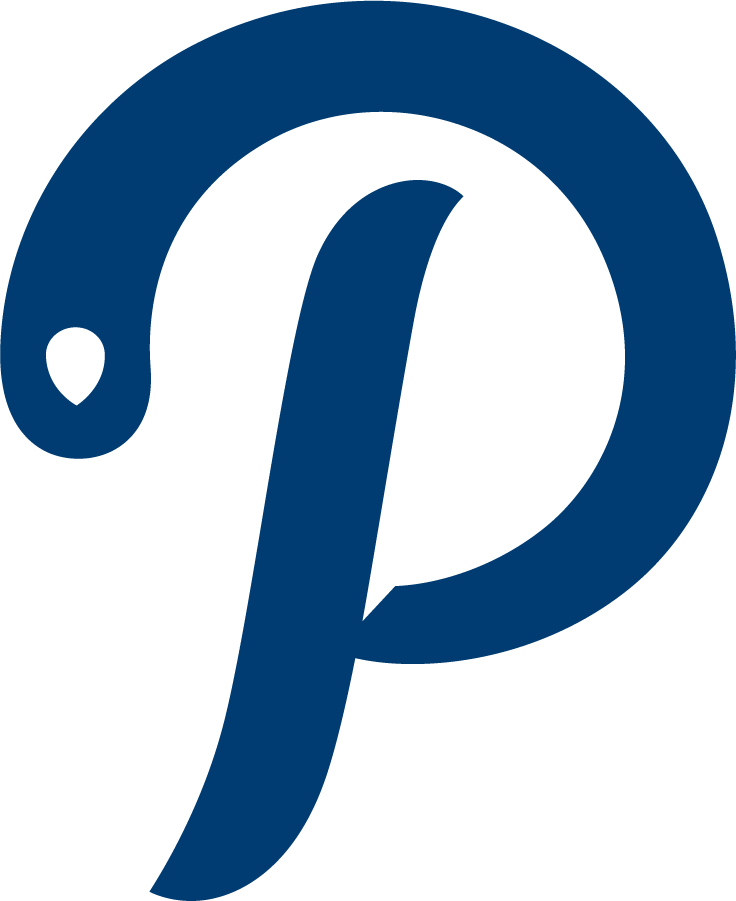 Saint Peters Peacocks Logo Alternate Logo (2020-Pres) - Saint Peter's redesigned their entire athletic logo program in the Summer of 2020, including this new scripted P logo representing the team name Peacocks. SportsLogos.Net
