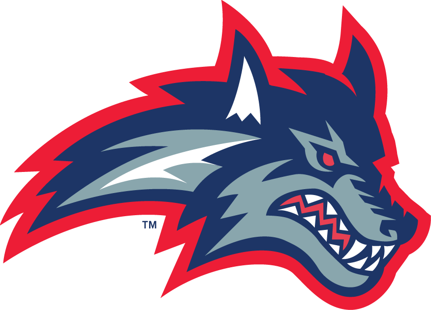 Stony Brook Seawolves Logo Secondary Logo (1998-2007) - Wolf's head with red outline SportsLogos.Net