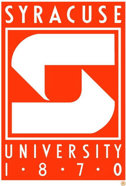 Syracuse Orange Logo Primary Logo (1989-2000) - White S on an orange box with script SportsLogos.Net