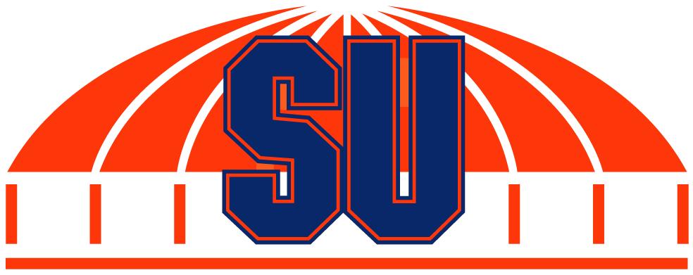 Syracuse Orange Logo Primary Logo (2001-2003) - Blue SU on the Carrier Dome SportsLogos.Net