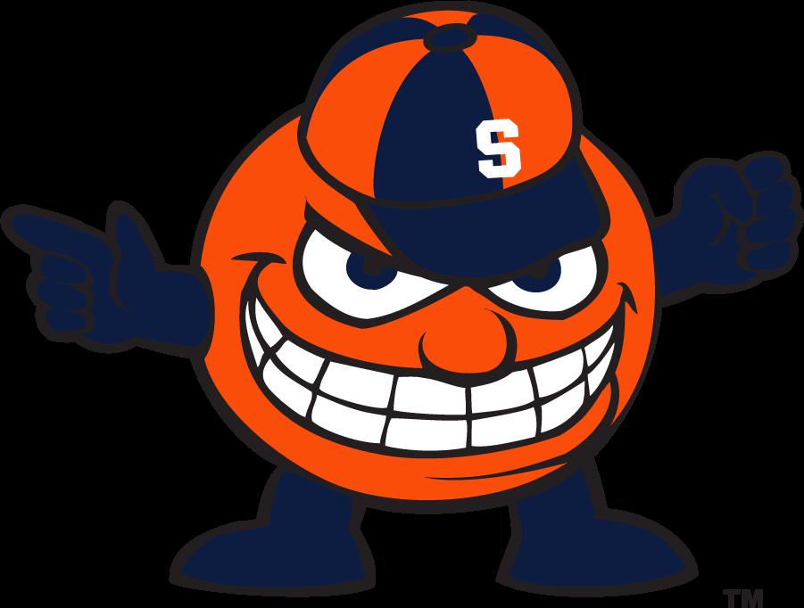 Syracuse Orange Logo Mascot Logo (2006-2009) - Mascot Aggressive Otto with block S on hat. SportsLogos.Net