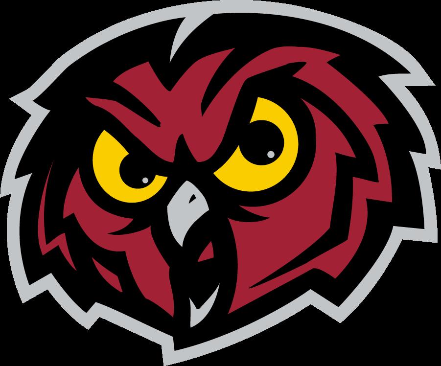 Temple Owls Logo Secondary Logo (1996-2020) - Red owl head. SportsLogos.Net