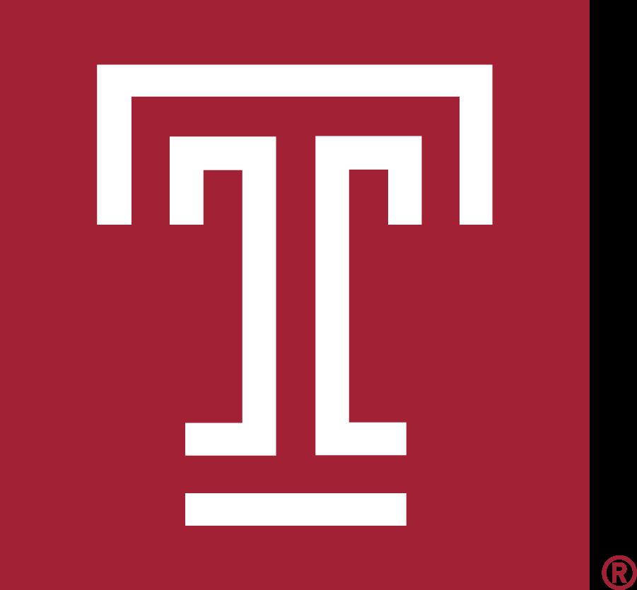 Temple Owls Logo Alternate Logo (2020-Pres) - Temple T mark in box in cherry red (Pantone 201C). SportsLogos.Net