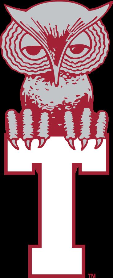 Temple Owls Logo Primary Logo (1964-1972) - Owl sitting on a T. SportsLogos.Net
