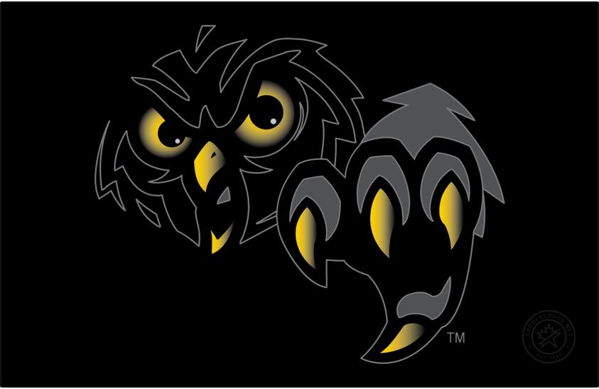 Temple Owls Logo Secondary Logo (1996-2014) - Dark owl head & claws on black. SportsLogos.Net