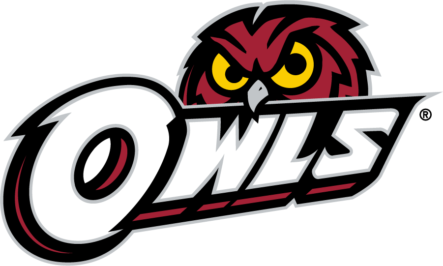Temple Owls Logo Secondary Logo (2014-2020) - Red owl head behind OWLS in white. SportsLogos.Net