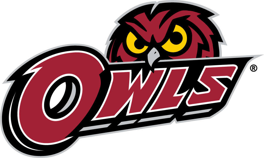 Temple Owls Logo Secondary Logo (2014-2020) - Red owl head behind OWLS in red. SportsLogos.Net