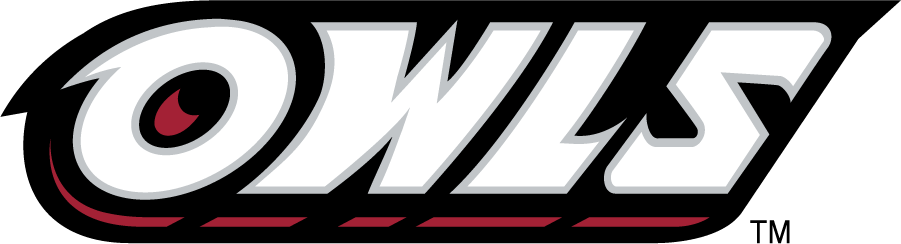 Temple Owls Logo Wordmark Logo (1996-2014) - Slanted OWLS wordmark in white. SportsLogos.Net