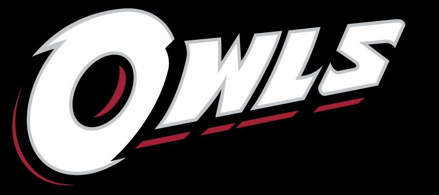 Temple Owls Logo Wordmark Logo (2014-2020) - Slanted OWLS wordmark in white. SportsLogos.Net