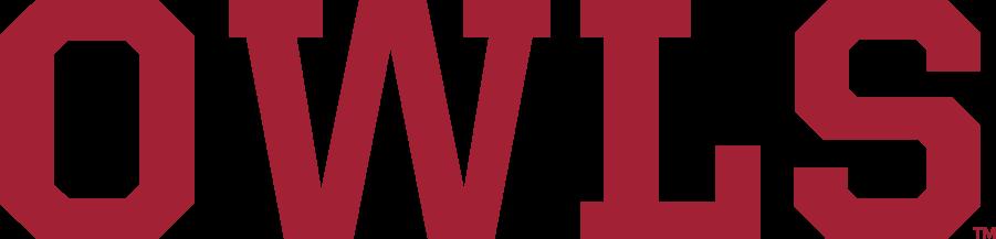 Temple Owls Logo Wordmark Logo (2020-Pres) - OWLS wordmark in cherry red (Pantone 201C). SportsLogos.Net