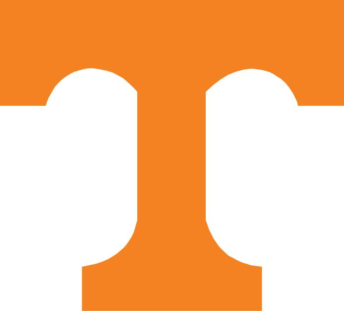 Tennessee Volunteers Logo Primary Logo (1997-2014) - Orange T with black outline SportsLogos.Net