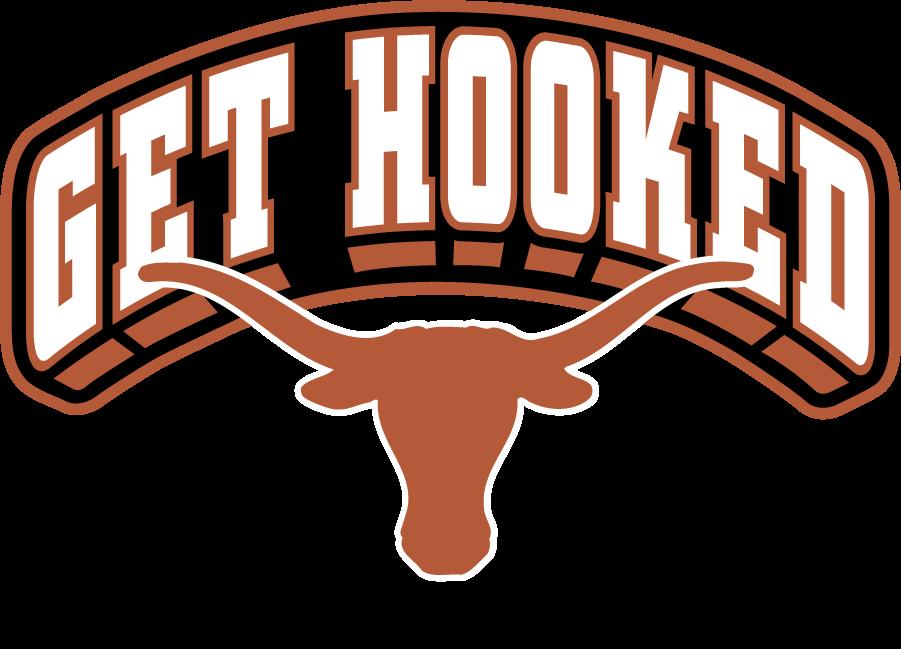 Texas Longhorns Logo Secondary Logo (2019-Pres) - Arch GET HOOKED over longhorn. SportsLogos.Net