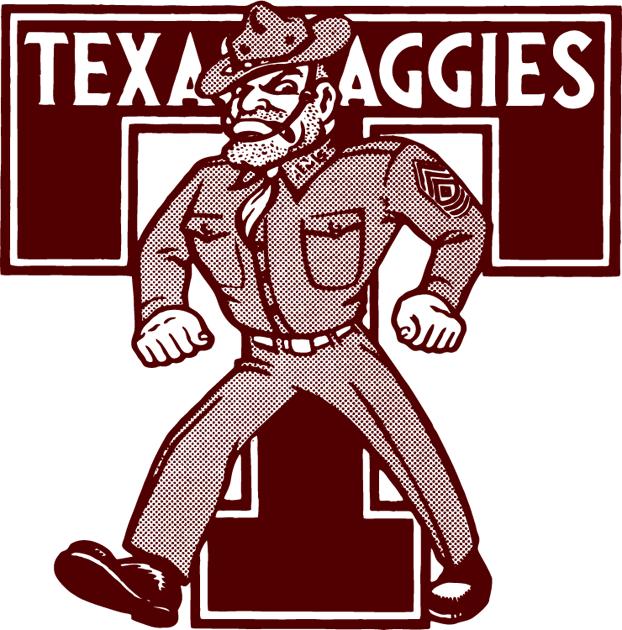 Texas A&M Aggies Logo Primary Logo (1972-1980) -  SportsLogos.Net