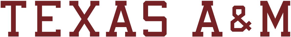 Texas A&M Aggies Logo Wordmark Logo (2001-Pres) - Texas A&M maroon text SportsLogos.Net