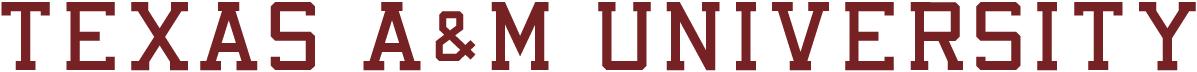 Texas A&M Aggies Logo Wordmark Logo (2001-Pres) - Texas A&M University maroon text  SportsLogos.Net
