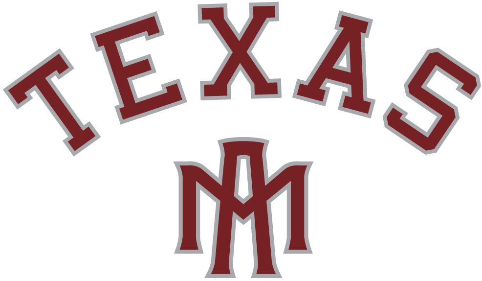 Texas A&M Aggies Logo Alternate Logo (2001-Pres) - Texas script over interlocking MA letters. SportsLogos.Net