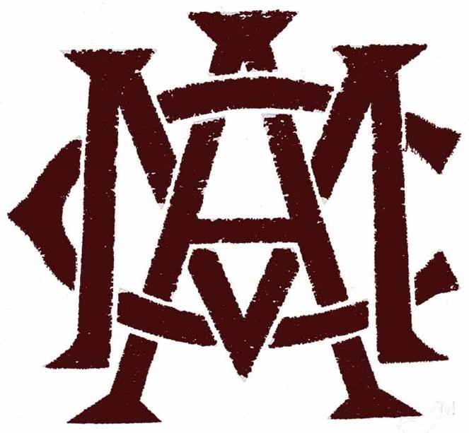 Texas A&M Aggies Logo Primary Logo (1908-1927) -  SportsLogos.Net