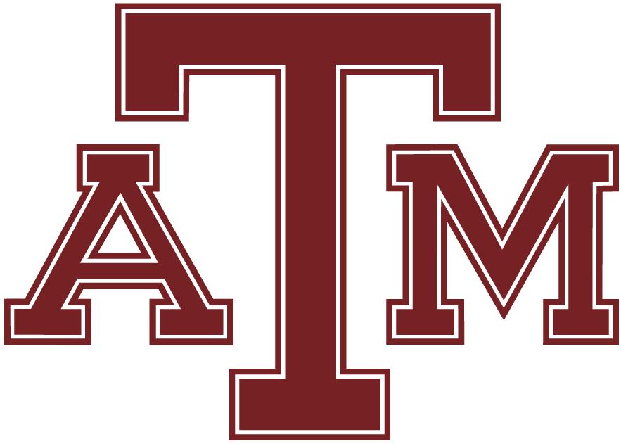 Texas A&M Aggies Logo Primary Logo (1981-2000) -  Maroon ATM SportsLogos.Net