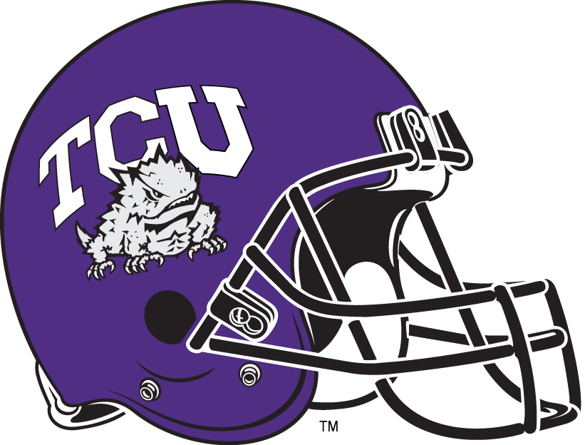 Football Helmet Horns Tcu Horned Frogs Helmet Logo