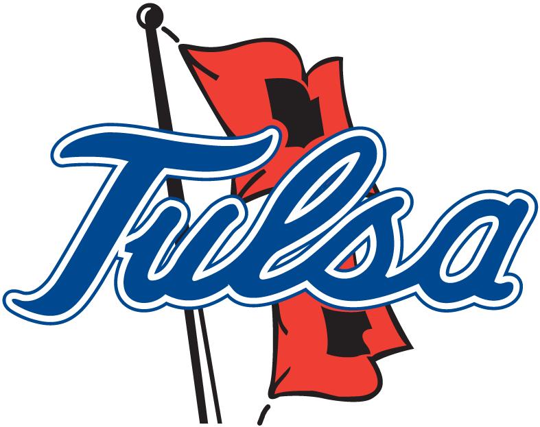 Tulsa Golden Hurricane Logo Primary Logo (1982-Pres) - Tulsa scipt over Hurricane flags SportsLogos.Net