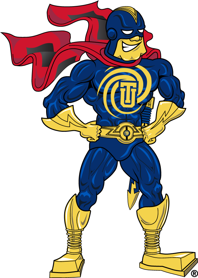 Tulsa Golden Hurricane Logo Mascot Logo (2009-2019) - Captain Cane standing. SportsLogos.Net