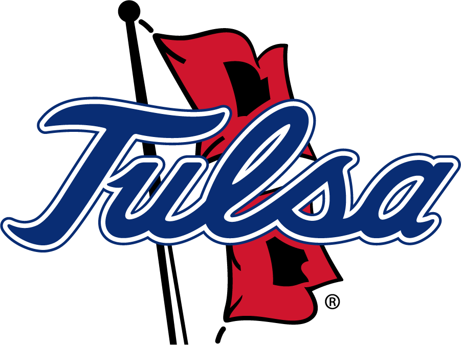 Tulsa Golden Hurricane Logo Primary Logo (2016-Pres) - Tulsa script on Hurricane Warning Flags. The script TULSA was changed at this time, most noticeably a wider gap between the L and S among other adjustments. SportsLogos.Net