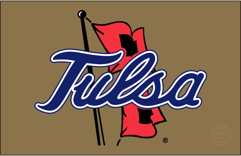 Tulsa Golden Hurricane Logo Primary Dark Logo (1995-2014) - Tulsa script on Hurricane Warning Flags SportsLogos.Net