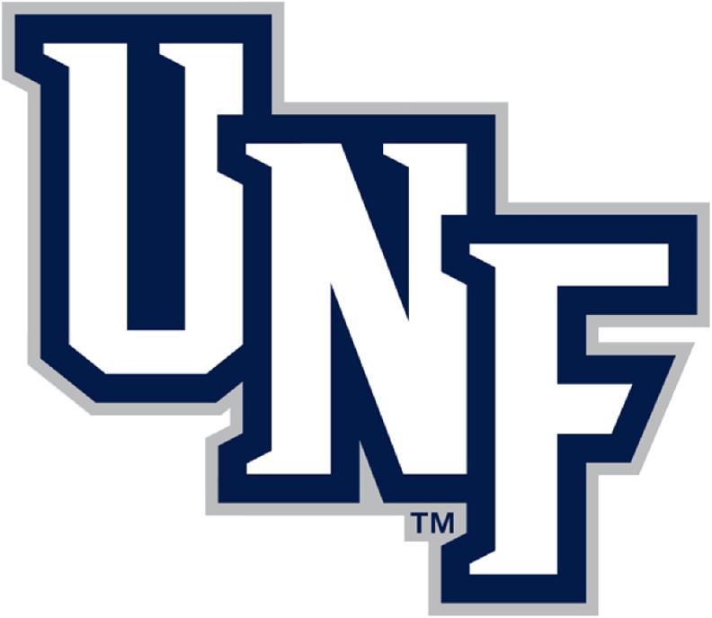 UNF Ospreys Logo Wordmark Logo (2014-Pres) -  SportsLogos.Net