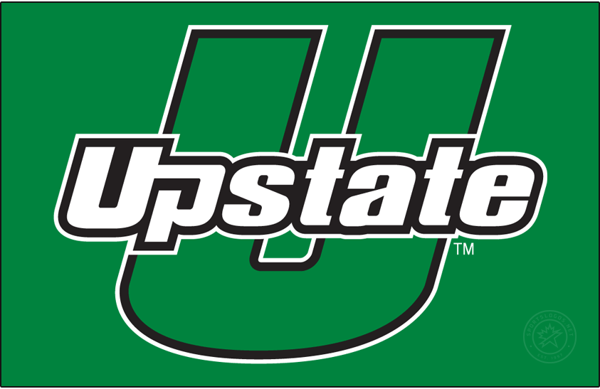 USC Upstate Spartans Logo Primary Dark Logo (2021-Pres) - In April 2021, USC Upstate refreshed their brand with several changes. First most, green was changed from Pantone 349C to 348C. Effective immediately, the athletics program exclusively uses the U-Upstate mark as its primary athletics following years of the U-Upstate and U-Spartans marks used interchangeably. The U-Spartans mark was discontinued at this time.  SportsLogos.Net